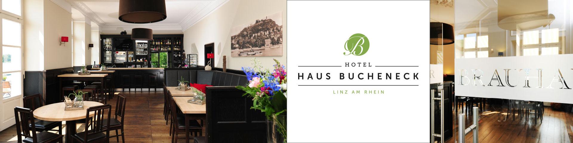 Projekte: website haus bucheneck - Logoentwicklung, Geschäftsausstattung, Flyer, Webseite