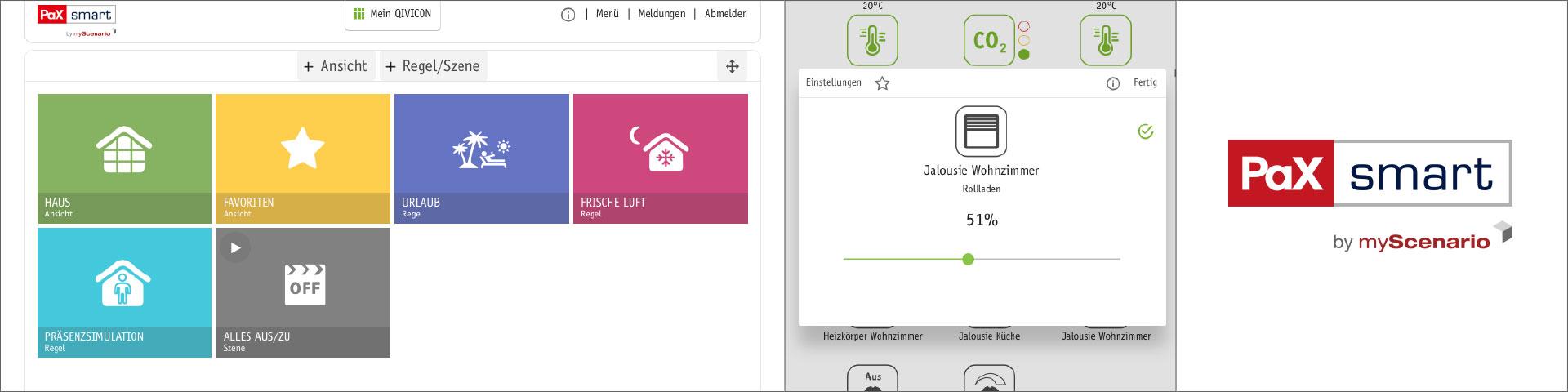 Projekte: Web-App PaXsmart - App-Design