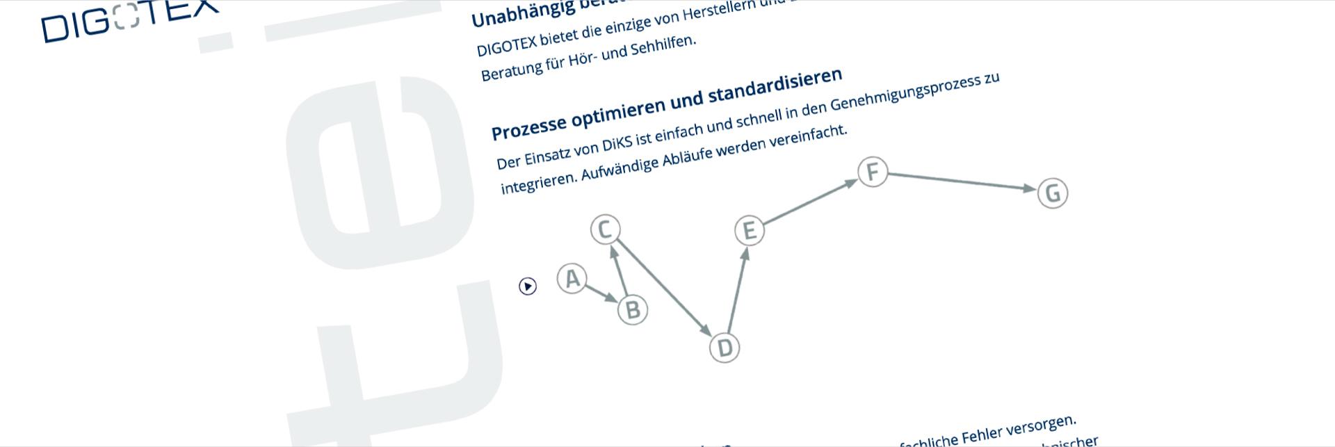 Projekt: digotex webseite